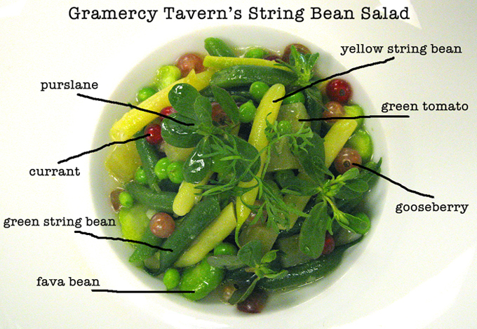 GramercySourceDish Gramercy Taverns String Bean Salad: A Close Look at a Cultivated Plate