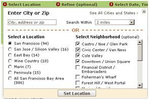 multiple neighborhoods 1 OpenTable Introduces New Metro Home Page with Improved Features