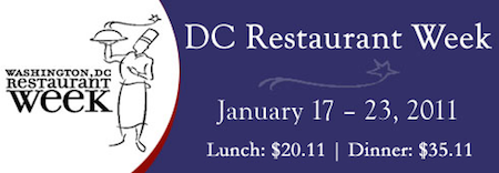 DC Winter Restaurant Week 2011 Washington DC Restaurant Week: Tips from DC Cheap Eats Examiner L. Denise