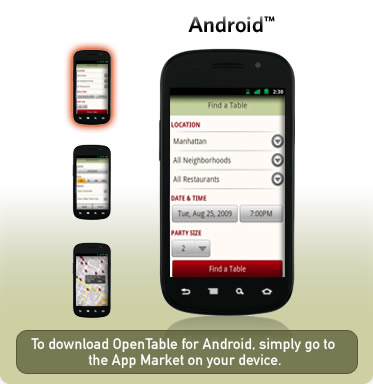 Mobile Archives Page Of OpenTable Blog - Open table app for android