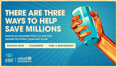Unicef Tap Project 2012 Support the UNICEF Tap Project: Dine Out on March 19 thru March 25