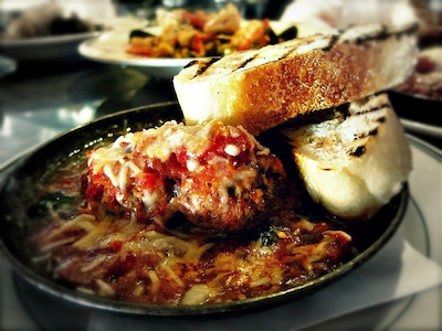 Sams Grandma Floras Davory Meatballs Appetizer From Mom with Love: Executive Chef Lewis Rossman of Sams Chowder House in Half Moon Bay, California, Shares the Recipe for Grandmas Meatballs