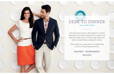 BR Desk to Dinner: Banana Republic, Bon Appétit + OpenTable Invite You to Dine with Style This Summer