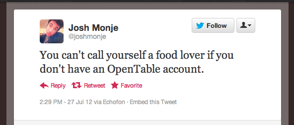 Tweet of the Week 072712 Tweet of the Week: Call Me Maybe ... a Food Lover?