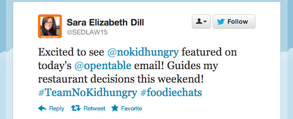 Tweet of the Week Sep212012 Tweet of the Week: Share Our Strength + Dine Out to Help End Childhood Hunger