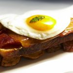 Library Bistro in Seattle, Washington, delights diners with this croque madame.
