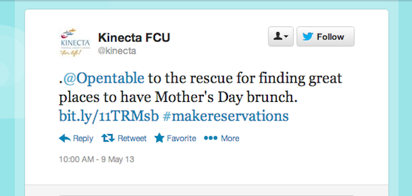 Tweet of the week May 10 Tweet of the Week: Saving the Day on Mothers Day!