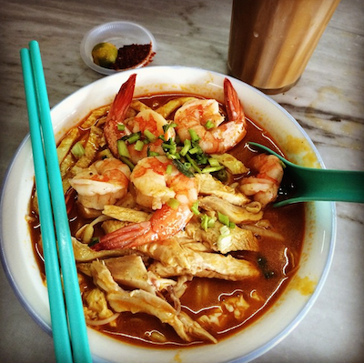 Anthony Bourdain Laksa blog