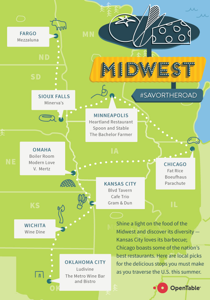 Opentable 2015 Summer Road Trip Restaurant Guide