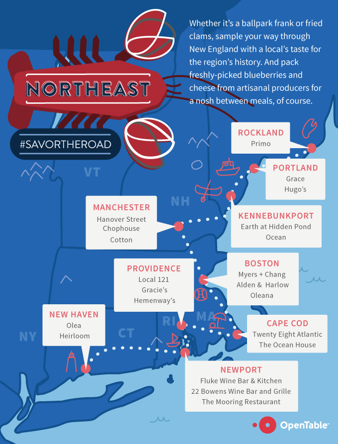 Northeast Road Trip >> Opentable 2015 Summer Road Trip Restaurant Guide
