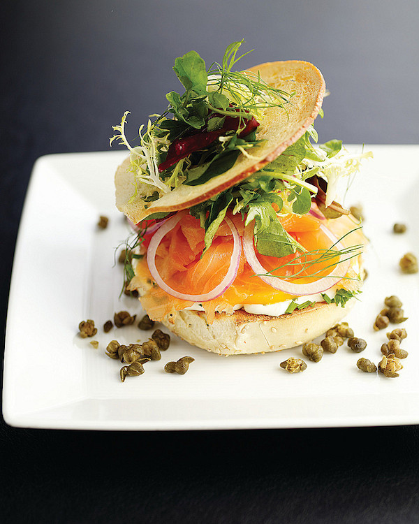 Blog The Garden Restaurant at Four Seasons Hotel New York Catskill Smoked Salmon Bagel copy
