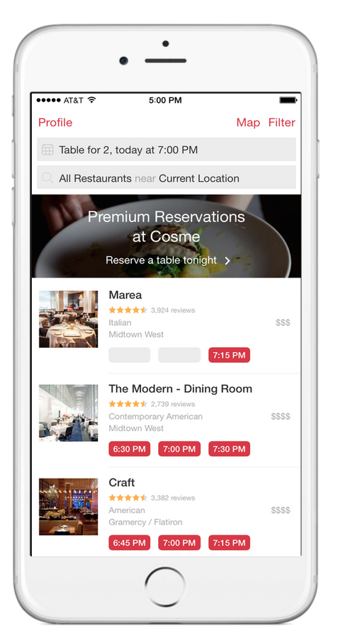 Now Testing Premium Reservations In Nyc
