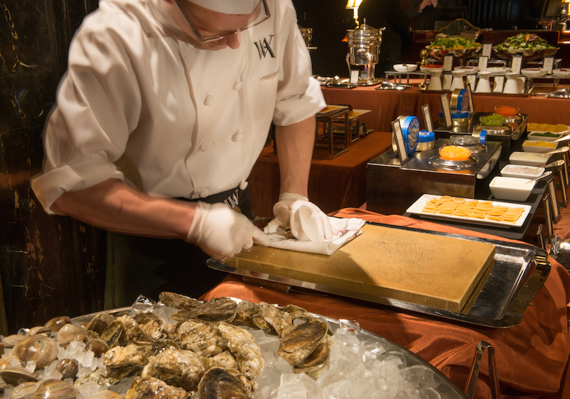 This chef shucks around 500 oysters at most brunch services.