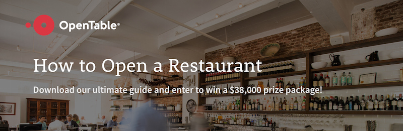 So You Want to Open a Restaurant? Download Our Free Guide + Enter for a Chance to Win a $38,000 Grand Prize