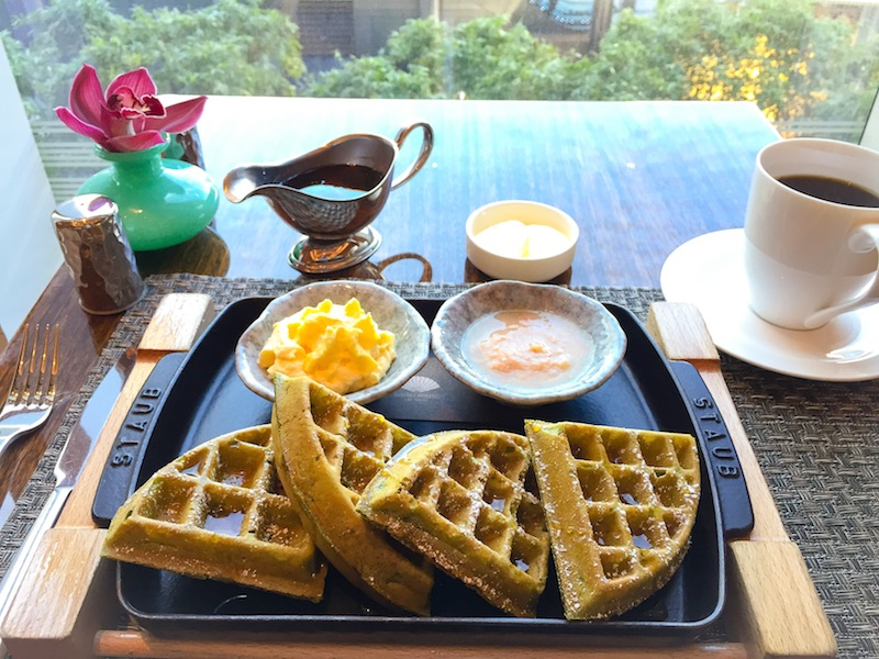 how to make green tea waffle