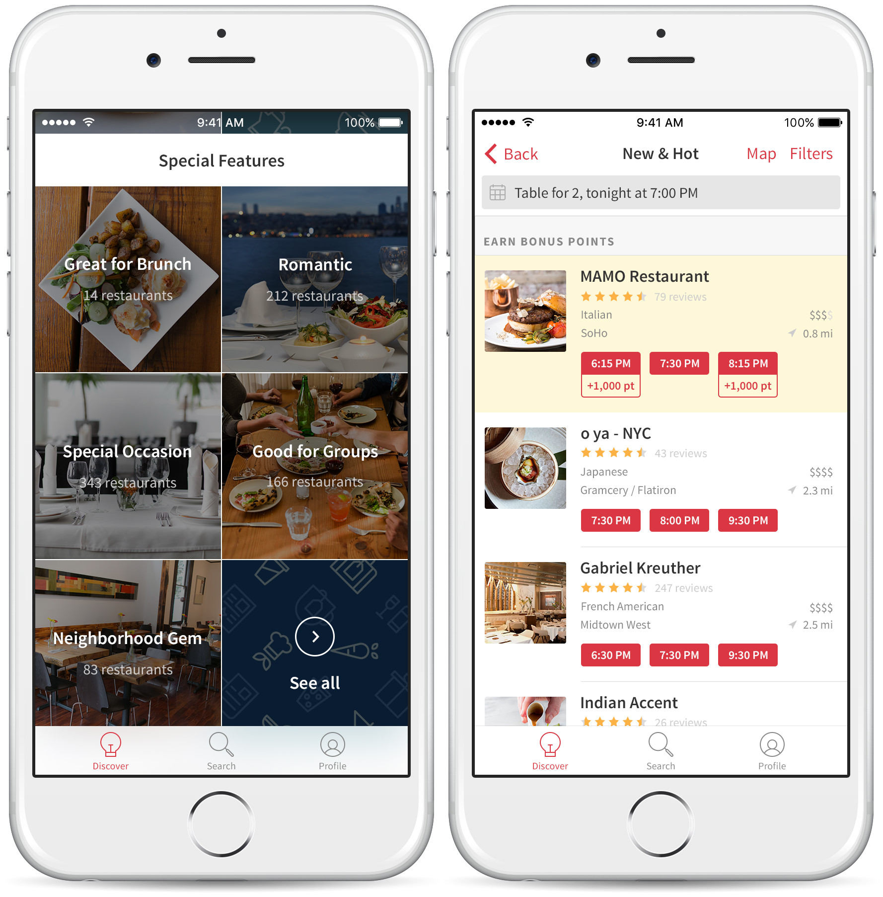 Opentable discover app redesign helps travelers locals for 0pen table