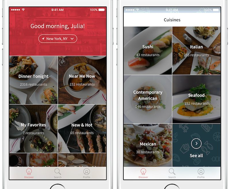 OpenTable Discover: App Redesign Helps Travelers + Locals Discover New Dining Experiences