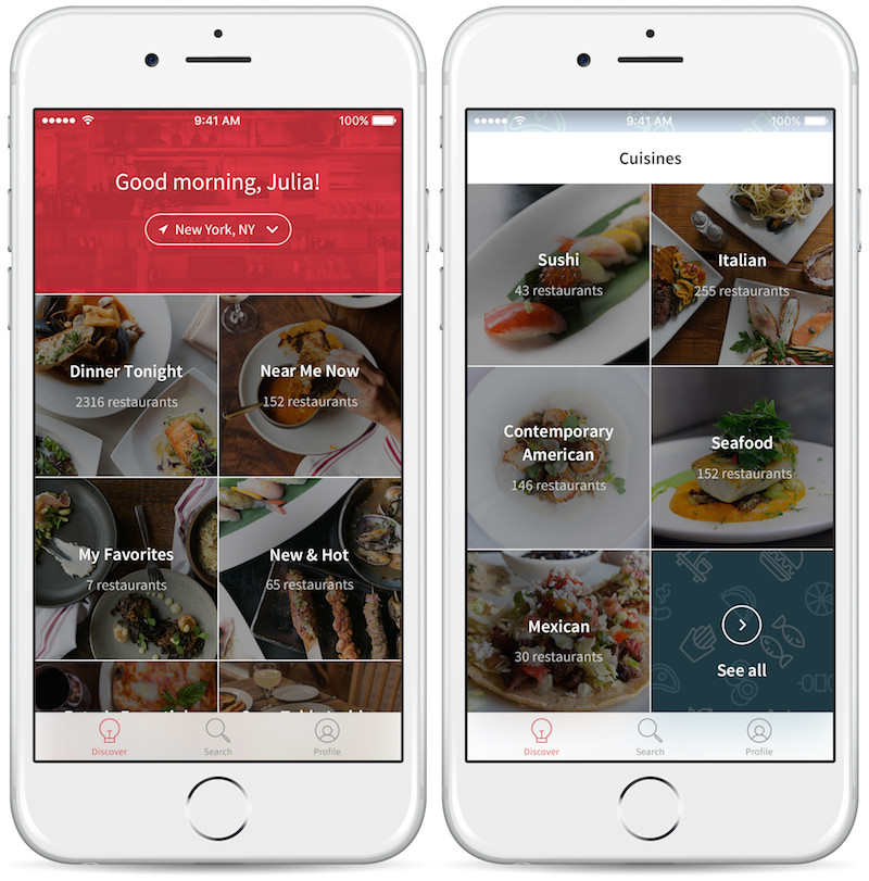 OpenTable Discover