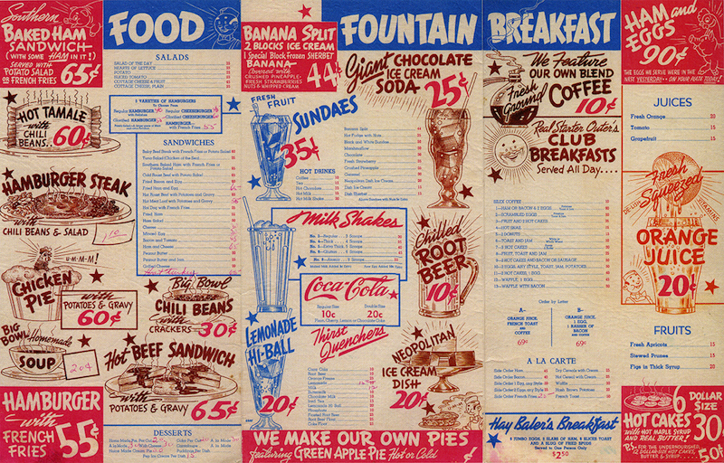 The evolution of restaurant menus
