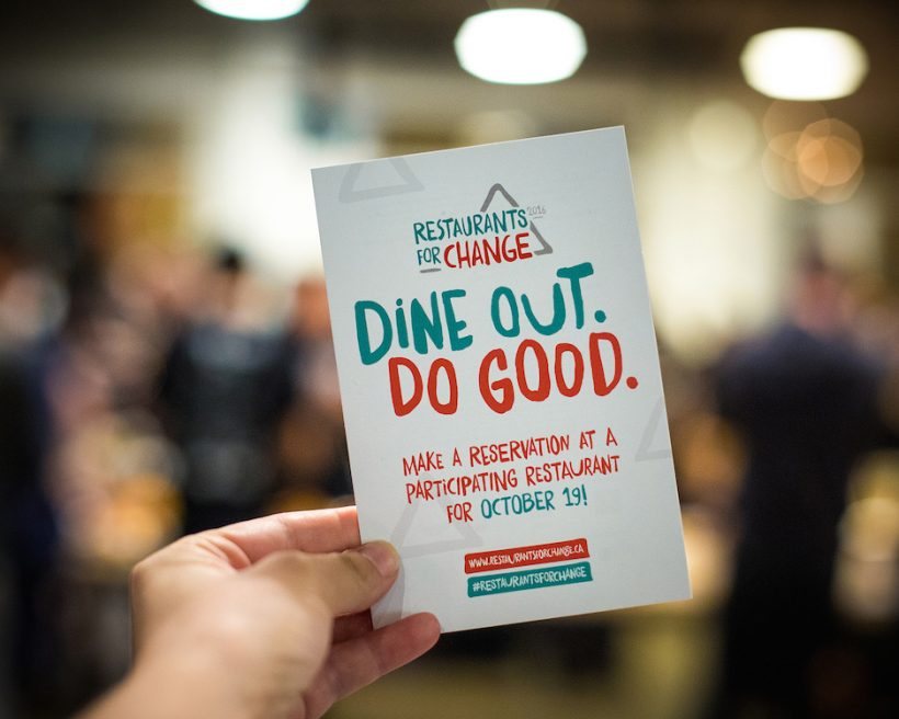 Restaurants For Change Unites Chefs Across Canada to Make a Difference