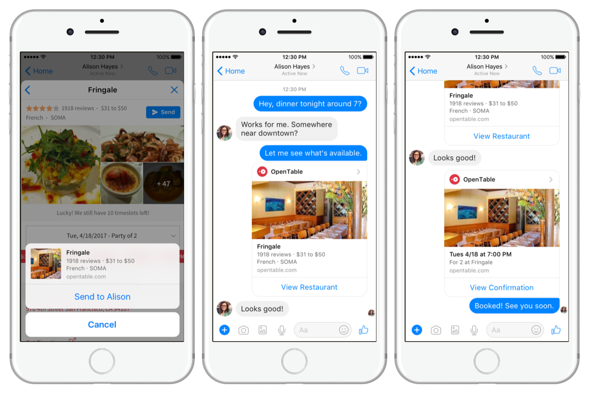 You Can Now Book Reservations Through OpenTable's Bot for Messenger