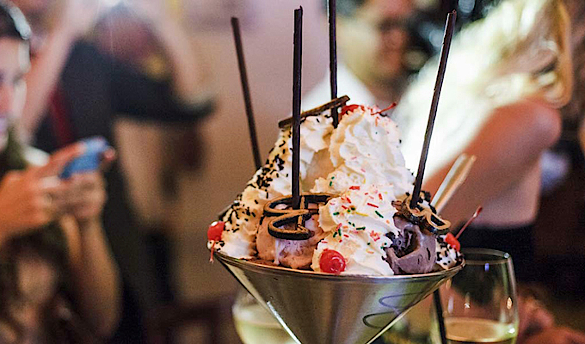 over-the-top ice cream sundaes