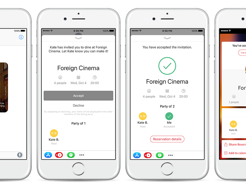 OpenTable Unveils New Features Optimized for iOS 11 to Make Sharing + Keeping Track of Reservations Even Easier