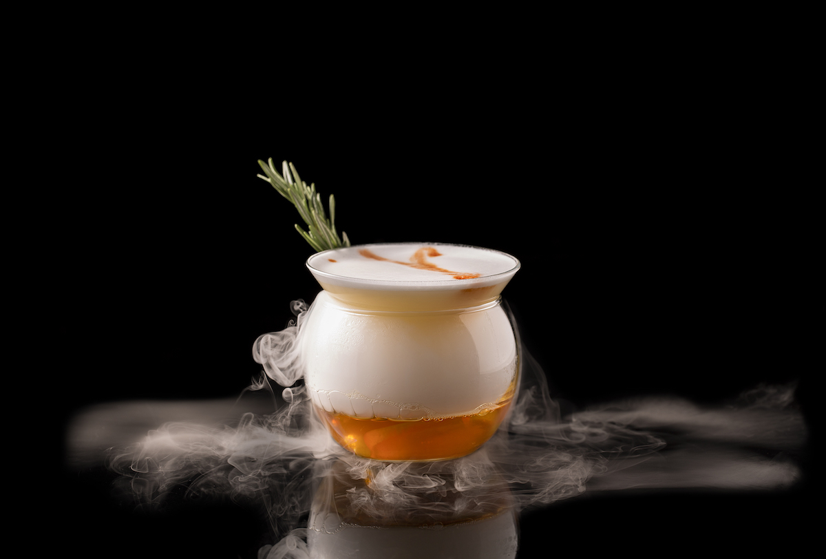 cocktails with dry ice