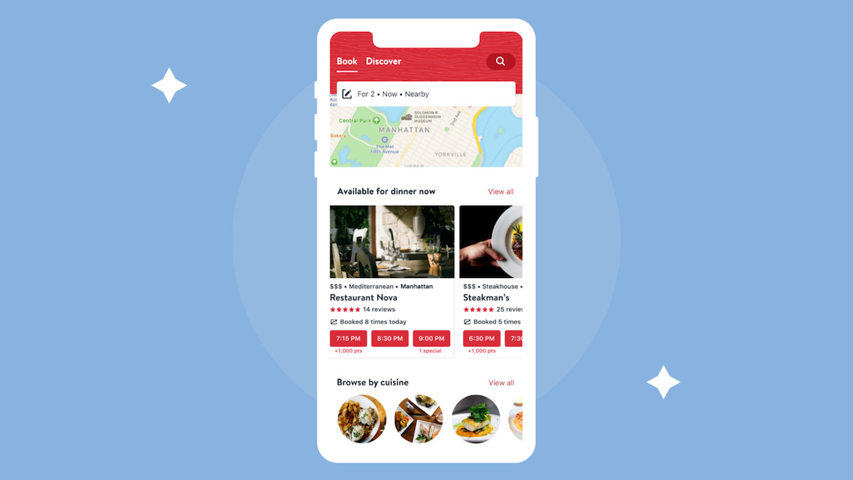 OpenTable App Caters to the On-the-Go, Last-Minute Diner with Dynamic Redesign
