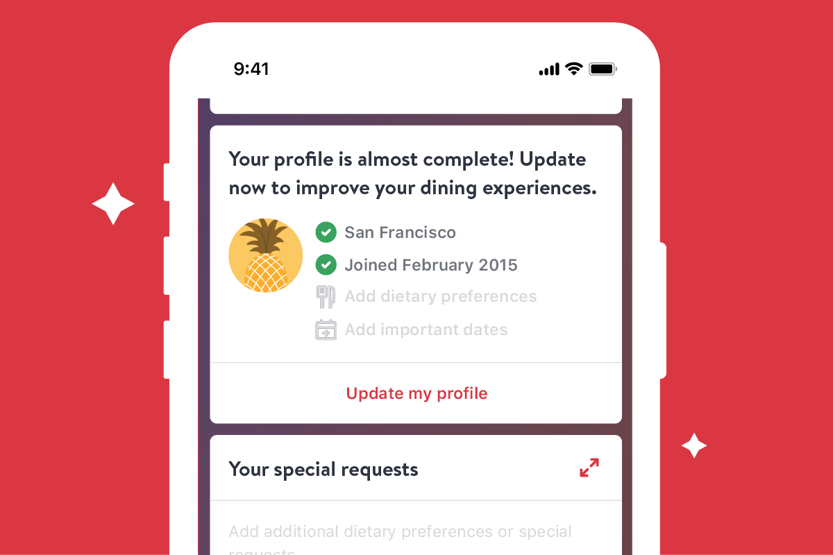 New: Update Your OpenTable Profile for More Personalized Dining Experiences