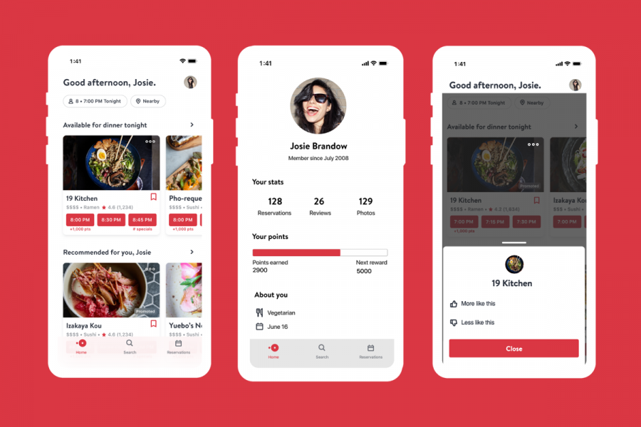 New Personalized OpenTable App