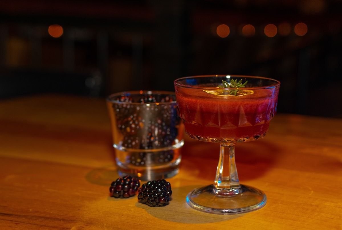 blackberry dishes + drinks