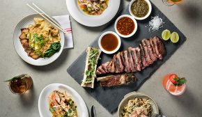 An assortment of dishes from Piggyback NYC