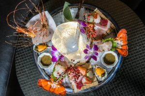 A seafood platter on ice