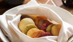 A basket of arepas