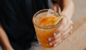 An orange cocktail