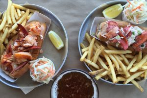 Lobster rolls and fries