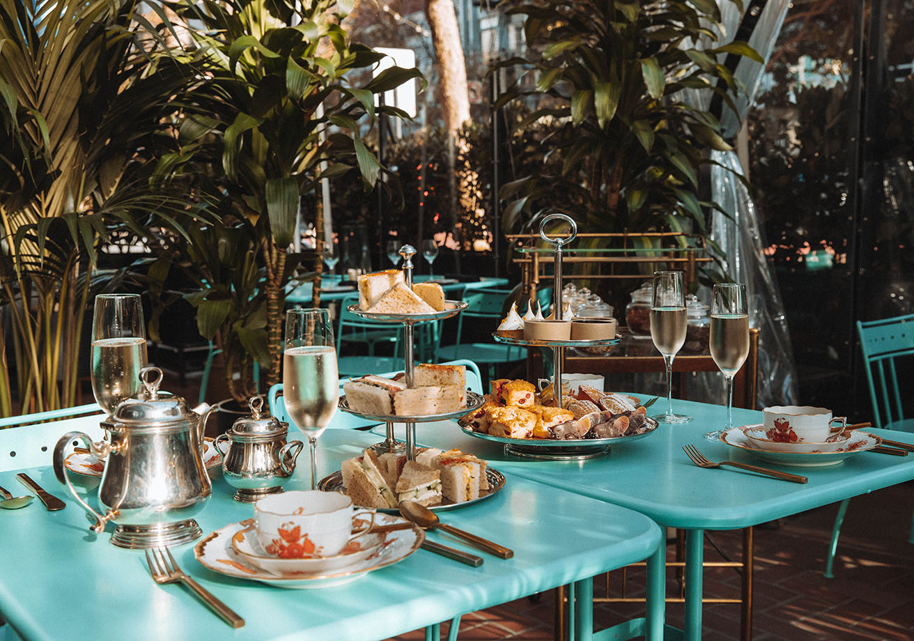Afternoon tea in a garden