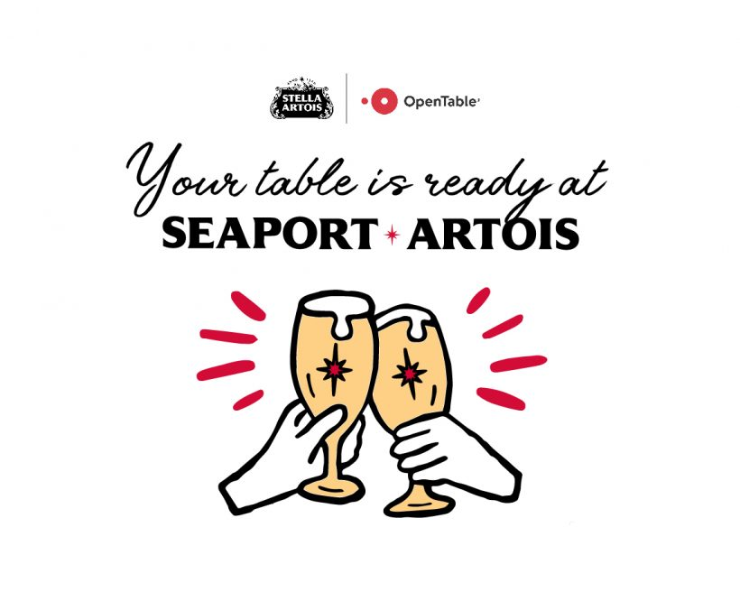 Your Table Is Ready at Seaport Artois