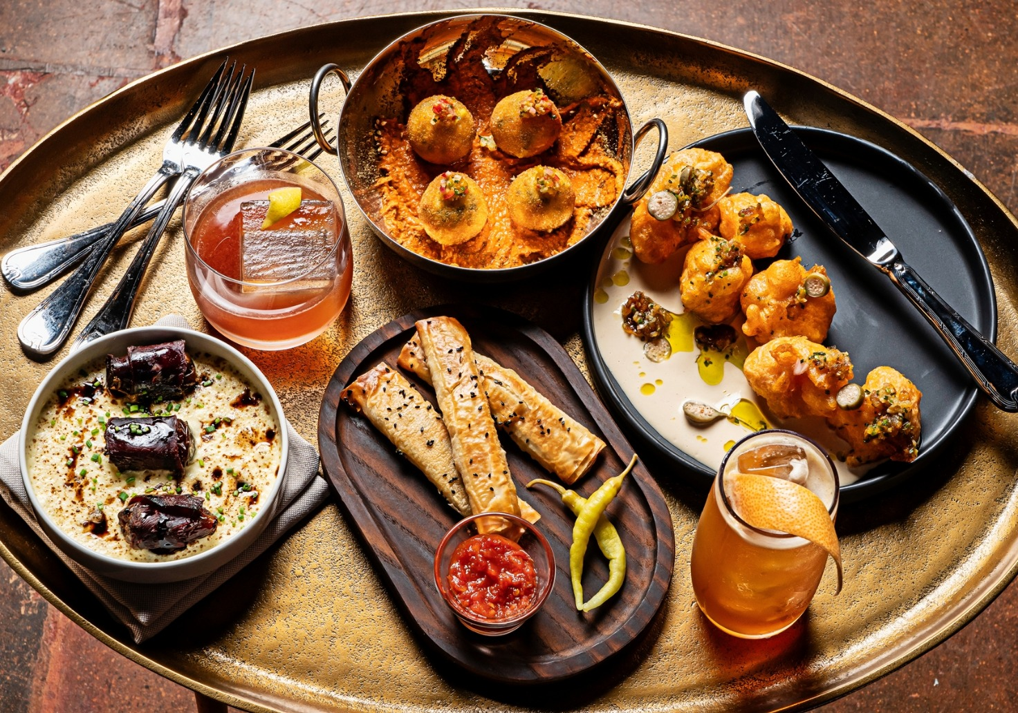 Spread of dishes at Gypsy Kitchen